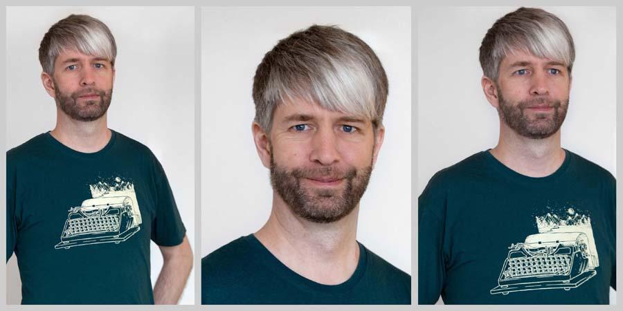 Eine Collage aus drei Portraitfotos von Fabioan Kösters